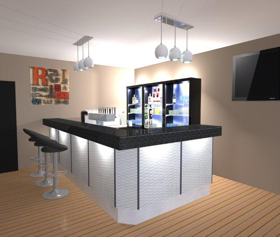 awesome piste de bar with comptoir bar arrondi. Black Bedroom Furniture Sets. Home Design Ideas